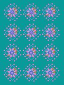 Garden Trellis In Teal