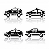 stock photo of flashers  - Set of transport icons  - JPG