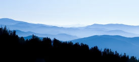 foto of smoky mountain  - Panoramic View from Clingmans Dome Great Smoky Mountains National Park Tennessee - JPG
