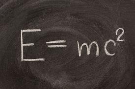 picture of albert einstein  - Albert Einstein well known physical formula E - JPG
