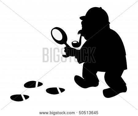 Funny Investigator Silouette