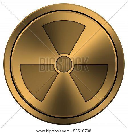 Shiny Metallic Copper-colored Icon