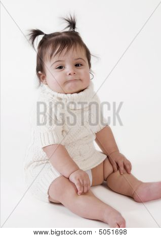 Baby Girl With Funny Expression