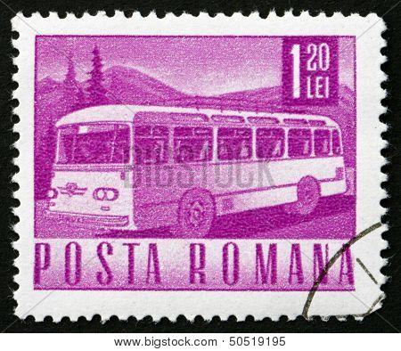 Postage Stamp Romania 1968 Autobus