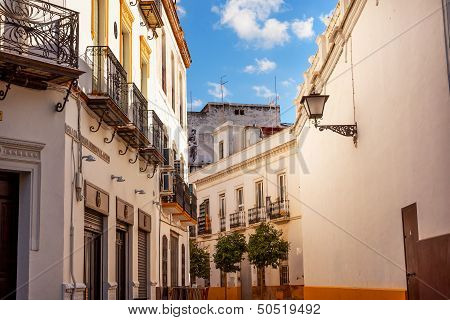 Matador Painting Narrow Streets Of Seville Spain City View