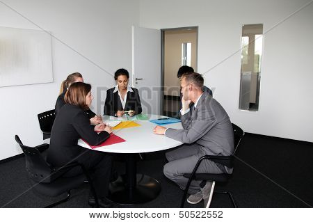 Young Professional Team In A Business Meeting