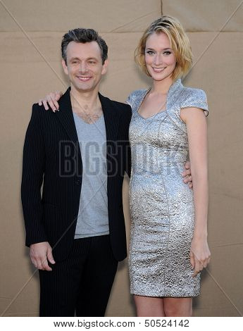 LOS ANGELES - AUG 04:  Michael Sheen & Caitlin FitzGerald arrives to CBS Showtime CW All Star Winter TCA Party 2013  on July 29, 2013 in Beverly Hills, CA