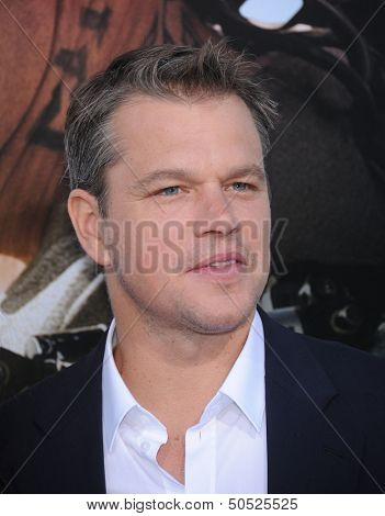 LOS ANGELES - AUG 07:  Matt Damon arrives to