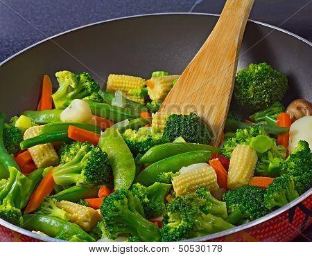 Close-up Of Stir Fry Vegetables