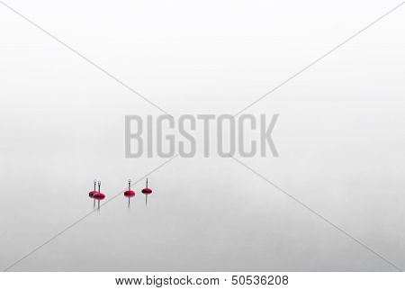 Four Red Buoys