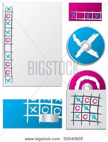 Tic Tac Toe Company Business Set