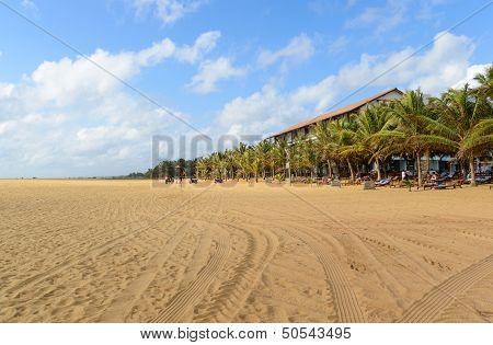 Sri Lanka. Negombo. The Coastline Of Beautiful Beaches