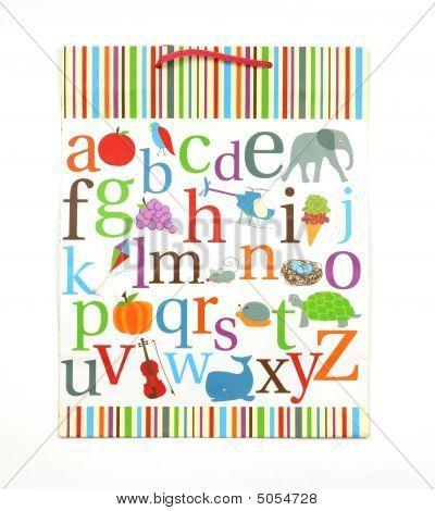 Alphabet Gift Bag
