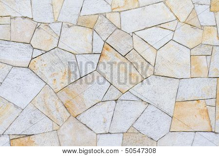 Sandstone Surface In Different Patterns Yellow Brown