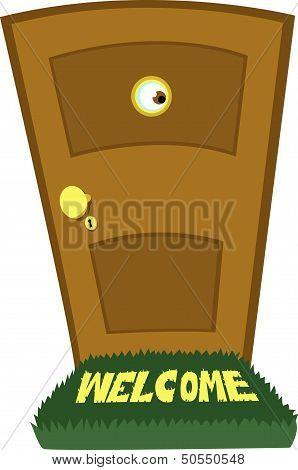 Spying Behind The Door