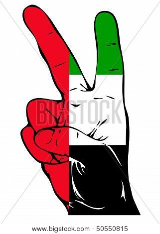Peace Sign of the UAE flag