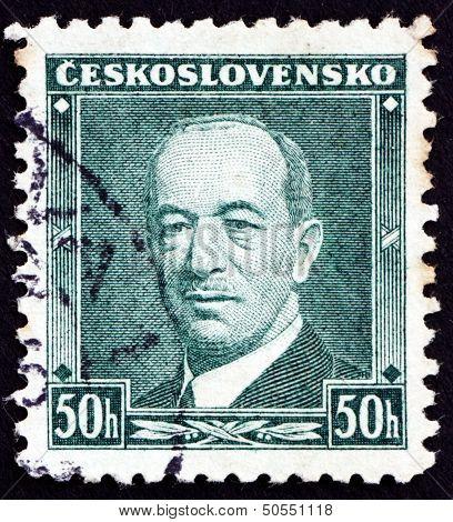 Postage Stamp Czechoslovakia 1936 Edvard Benes