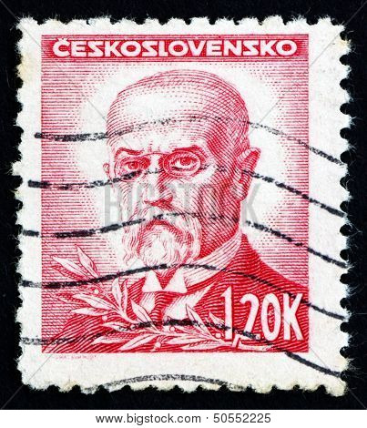 Postage Stamp Czechoslovakia 1945 Tomas Garrigue Masaryk