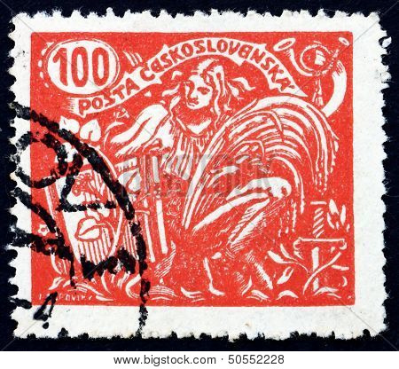 Postage Stamp Czechoslovakia 1923 Agriculture And Science, Alleg