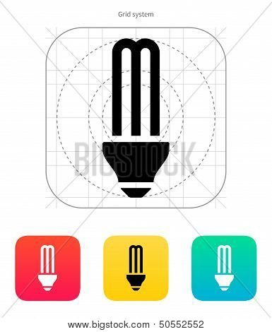 CFL light bulb icon. Vector illustration.