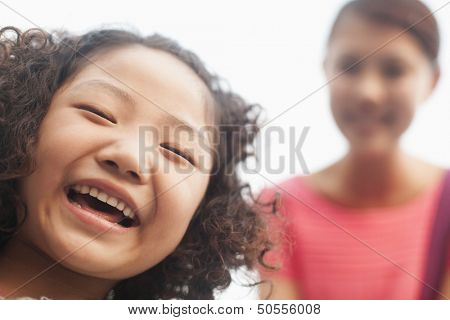 smiling girl, portrait
