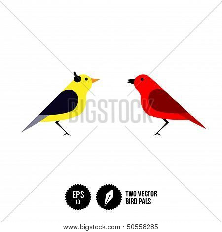 Two Vector Bird Pals