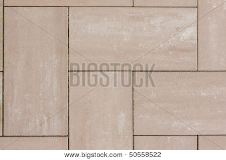 Stone Plates In Brown On A Sideway With Seams