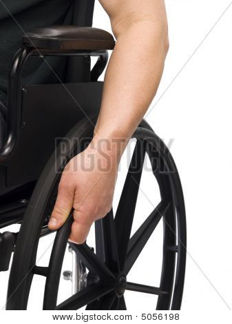 Hand On Wheel Chair