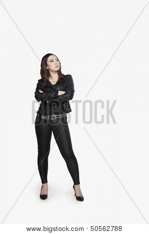 Young Punk Woman Standing Defiantly
