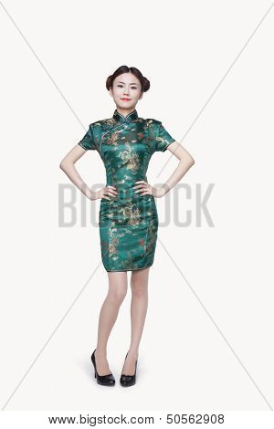 Portrait of Young Woman in Qipao
