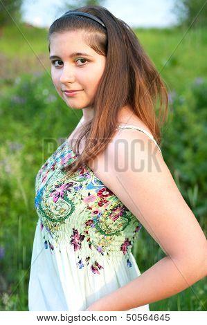 Girl In Light Dress