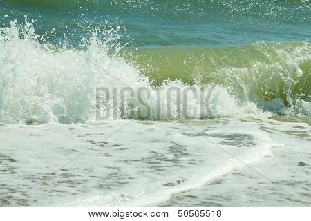 Sea Of Azov With Waves