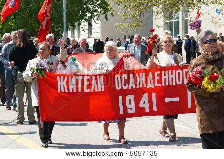 Inhabitants Of Deposited Sevastopol At Russian Parade May 9, 2009 In Sevastopol, Ukraine.