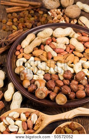 Nuts Assorty Close-up