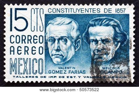 Postage Stamp Mexico 1956 Valentin Gomez Farias And Melchor Ocampo