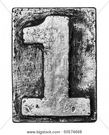 Metal alloy alphabet number 1