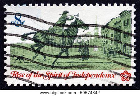 Postage Stamp Usa 1973 Postrider