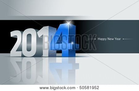 3D 2014 Happy New Year greeting card. All elements are layered separately. Easy editable.