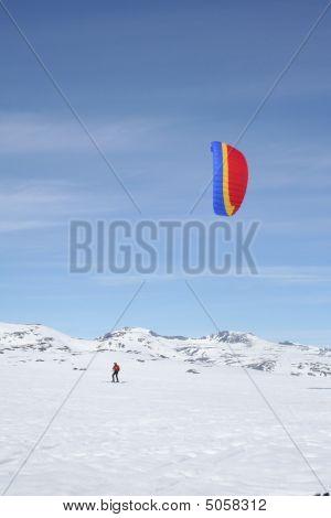 Kiting On Snow