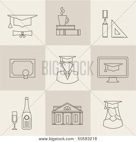 graduation icons