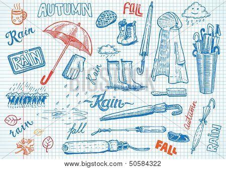 Funny Autumn doodles