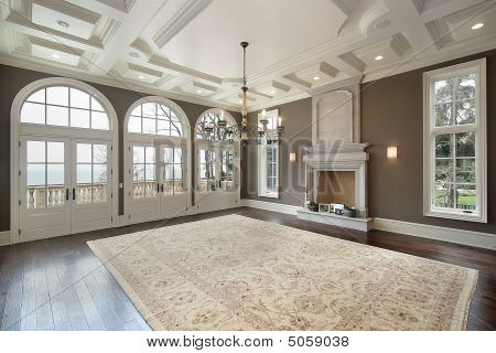 Family Room With Balcony View