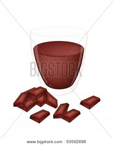 A Cup Of Hot Cocoa With Chocolate