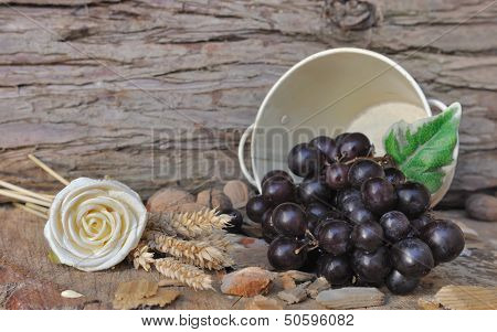 Rural Setting With Grapes