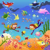 stock photo of under sea  - Under the sea - JPG