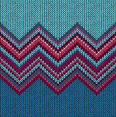 stock photo of handicrafts  - Knitted Seamless Fabric Pattern - JPG
