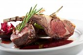 Grilled Rack of Lamb with Thyme