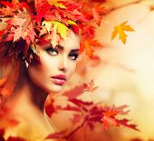 pic of amaze  - Autumn Woman Portrait - JPG