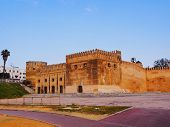 Walls Of Kasbah Of The Udayas In Rabat, Morocco