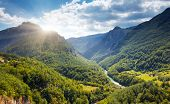 Fantastic view Tara river gorge - is the second biggest canyon in the world and the biggest one in E poster